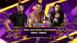 WWE 2K15- Brock lesnar vs Roman Reigns vs Seth Rollins For World Heavyweight Champion (PS4)