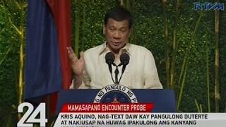 Kris Aquino, nag-text daw kay Pang. Duterte at nakiusap na huwag ipakulong ang kanyang kuya Noynoy