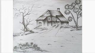 landscape pencil simple draw step