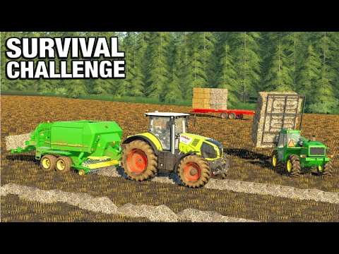 BALE HANDLING WITH THE NEW TELEHANDLER - Survival Challenge No Mans Land FS19 Ep 56 |
