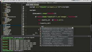 Laravel - Country and State Dropdown with AJAX - Part 6