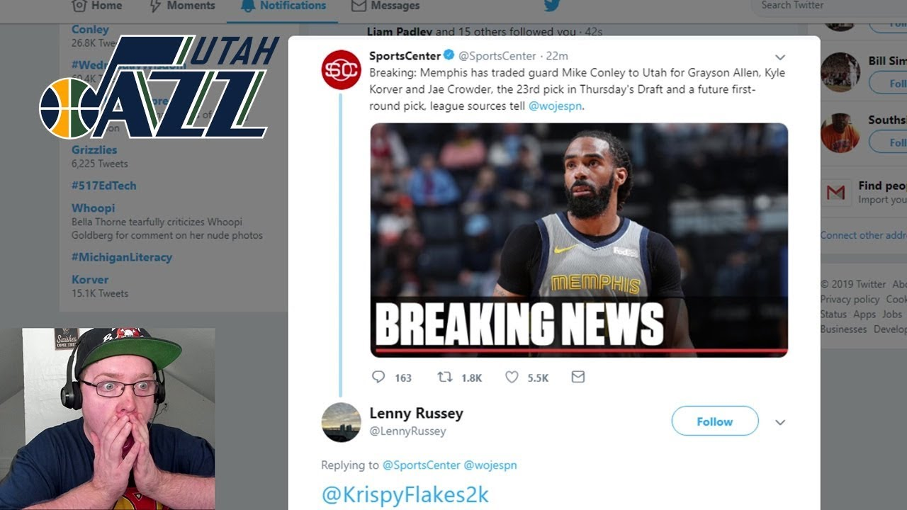 Grizzlies reportedly trading Mike Conley to Utah Jazz for three players, two picks