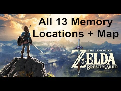 All 13 Memory Locations + Map - The Legend of Zelda: Breath of the Wild