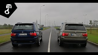 BMW X5 4.8is vs 3.0d (E53) Drag; zhmuraTV