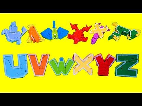 UVW XYZ  알파벳 변신로봇 갈매기 독수리 새 곤충 장난감