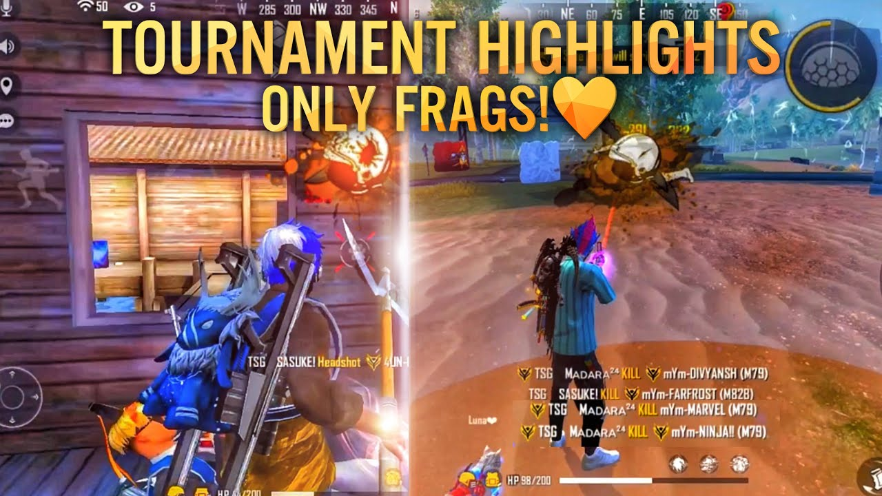 ⚡⚡TOURNAMENT HIGHLIGHTS❤️   💘😈ONLY FRAGS HIGHLIGHTS 💛🥴  TSG UNITED Domination   TSG ARMY❤️🔥⚡