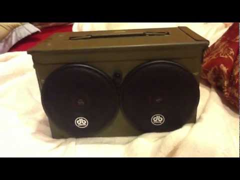hqdefault 50 cal ammo can boom box youtube Ammo Can Cup Holder at virtualis.co