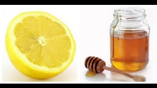 Honey + lemon mask and daily drink for face glow & acne