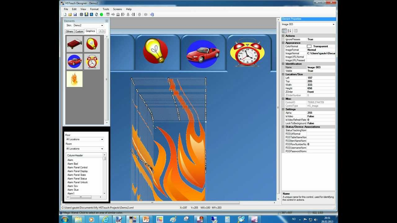 Building Hstouch Graphics With Point And Paintnet Part 2