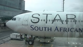 South African Airways ZS-SNC Airbus A340-600 O.R. TAMBO / CAPE TOWN
