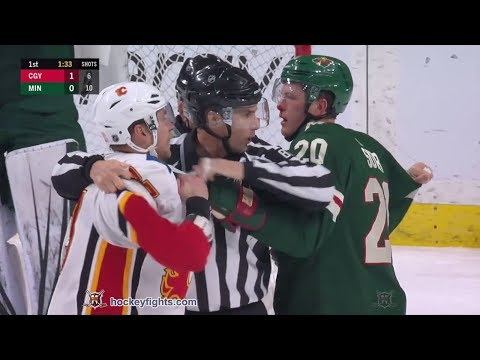 Sam Bennett vs Ryan Suter Dec 15, 2018