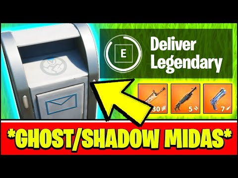 DELIVER LEGENDARY WEAPONS TO GHOST OR SHADOW DROPBOXES Locations (Fortnite GHOST SHADOW MIDAS)