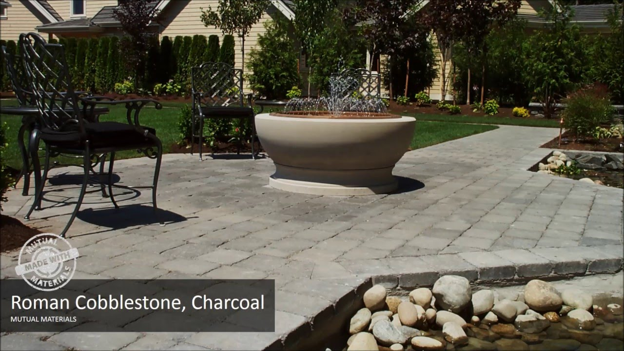 Paved Patio Ideas With Roman Cobblestone From Mutual Materials   YouTube