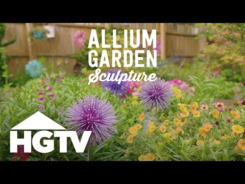 DIY Allium Garden Sculpture - Way to Grow - HGTV