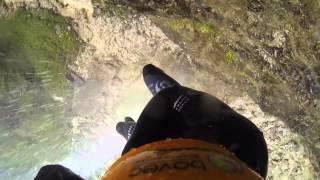 Waterfall Parabola Canyon Fratarica Slovenia GO PRO Hero 3