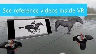 Video reference inside VR on Maya