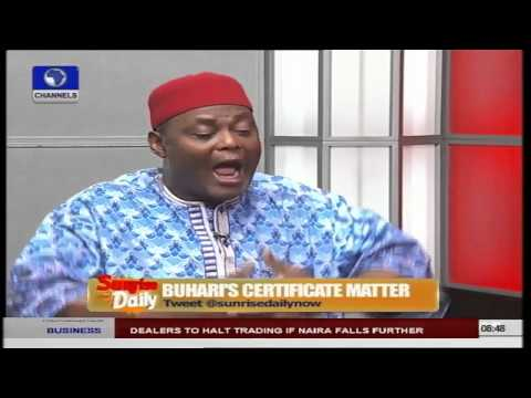 Buhari's Certificate Matter Is An Uncanny Concatenation Of Fate - Lawyer Prt 3