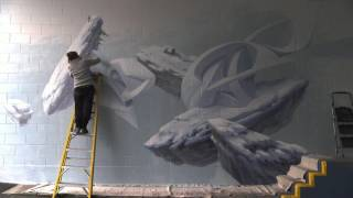 Peeta & Cinta Vidal Intuition Mural Timelapse