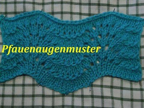 Pfauenaugen Muster*Wellenmuster*Stricken*Muster Für Pullover Tutorial Handarbeit