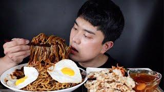 최고..짜장면 탕수육 ft.파김치 무생채 리얼사운드 먹…