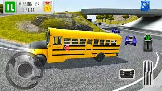 School Bus Driving Simulator - Gas Station Highway Service 2019 - Android Gameplay