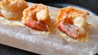 Cooking Shrimp On Pink Salt - Cooking On Himalayan Pink Salt - Shrimp Recipe