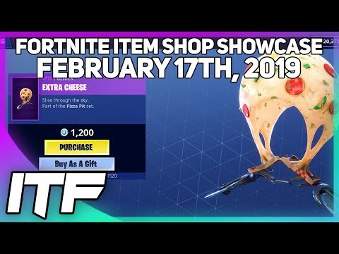 Fortnite Item Shop *NEW* EXTRA CHEESE GLIDER! [February 17th. 2019] (Fortnite Battle Royale)