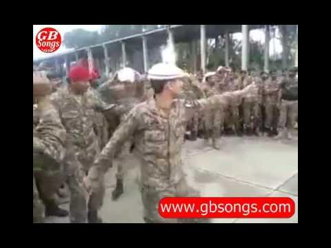 pak army (NLI) jawan cultural dance on tauba tauba || GB Songs