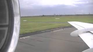 Takeoff on Alliance Airlines Fokker 100 at Brisbane Airport