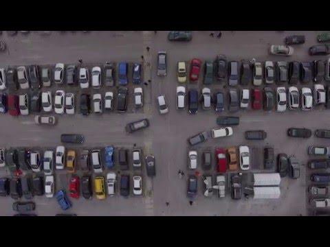 Кауфланд Студентски Град Паркинг От Високо [4k]
