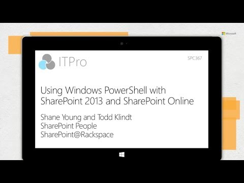 Using Windows PowerShell with SharePoint (Full Session)