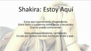 Shakira: Estoy Aquí (Lyrics)