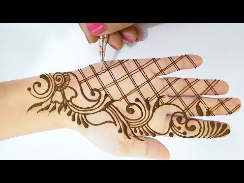 Easy Mehndi Trick - New Mehndi Design for Hands 2019 - आने वाले तीज त्यौहार में लगाएं ये मेहँदी