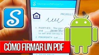 Cómo firmar un PDF (desde Android)