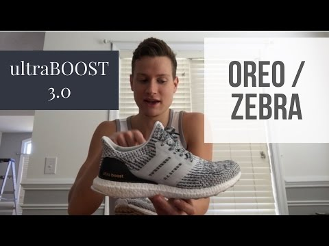 c0cb64ff2 Adidas UltraBOOST 3.0 Oreo Zebra Black Grey White Review and Unboxing