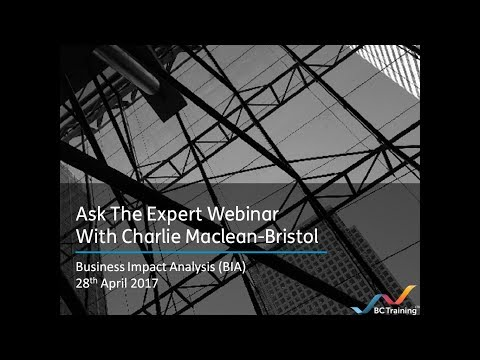 Ask The Expert Webinar With Charlie Maclean-Bristol