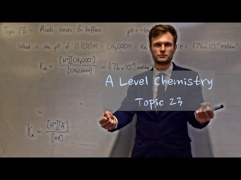A Level Chemistry - 23 - Acids, bases and buffers