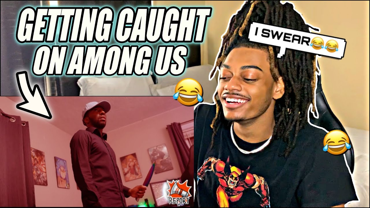 When you get caught red-handed in Among Us | REACTION