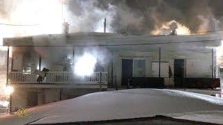 Montréal-Est: Incendie 3 alarmes Notre-Dame / Fire leaves multiple homeless 2-14-2019