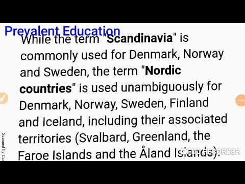 Tricks to remember Scandinavia and Nordic countries.