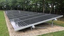 Walk around on a 33 KW solar ground mount array in Galloway, NJ