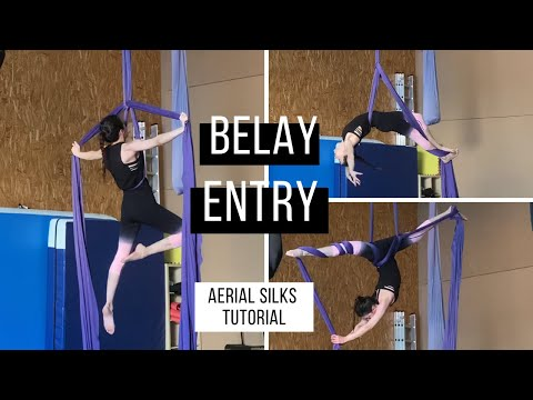 Aerial Silks Belay Entry Tutorial | Entrada a Polea Telas Aereas