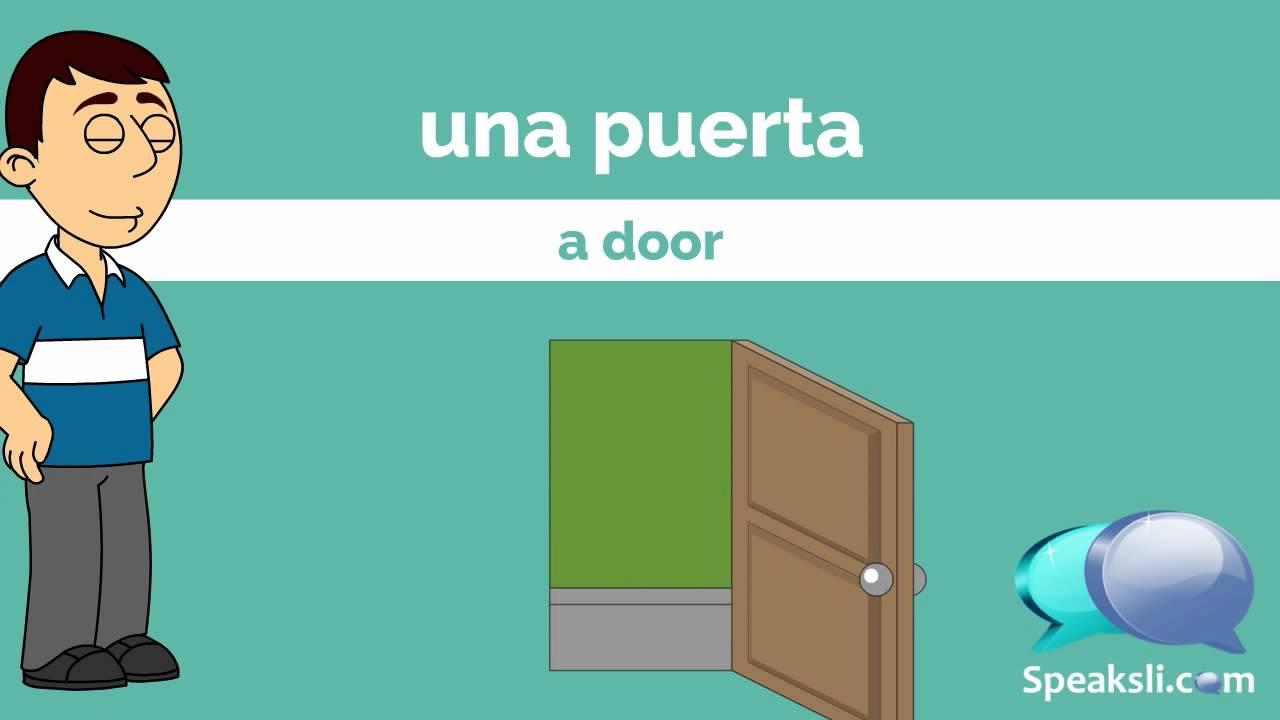 500 Spanish Nouns - Part 1   Learn Spanish   Spanish Vocabulary   Speaksli