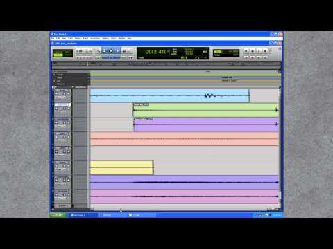 Consolidate individual tracks in Pro Tools