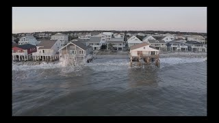 Ocean Isle Beach N.C. Angry Seas Trying to Destroy Houses