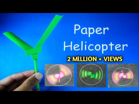 Paper Helicopter | How to Make Flying Paper Helicopter