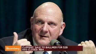 LA Clippers Sale to Steve Ballmer for $2B Has Closed: NBA