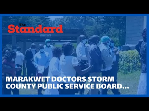 Elgeyo marakwet health workers storm county public service board, demand promotion letters