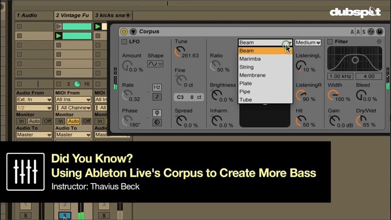 how to use corpus ableton