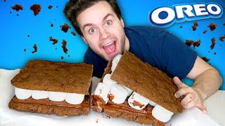 i made the BIGGEST Oreos S'more of ALL TIME!